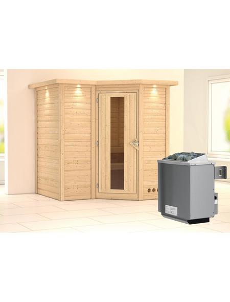 KARIBU Sauna »Riga 1« mit Ofen, integrierte Steuerung