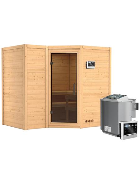 KARIBU Sauna »Riga 2« mit Ofen, externe Steuerung