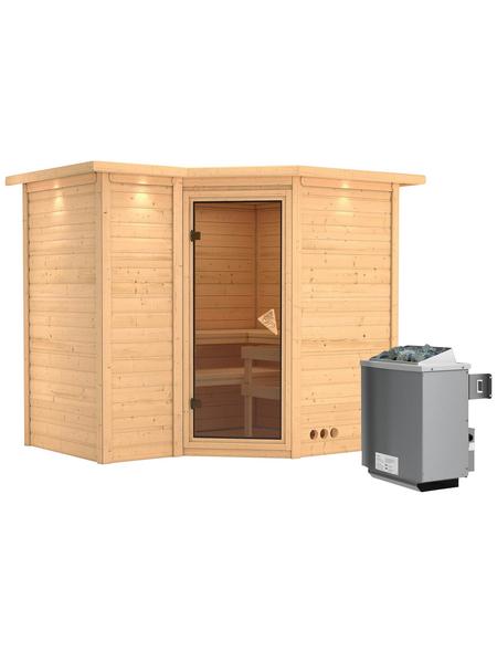 KARIBU Sauna »Riga 2« mit Ofen, integrierte Steuerung