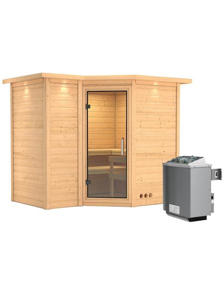 KARIBU Sauna »Riga 2«, mit Ofen, integrierte Steuerung