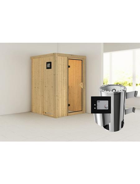 KARIBU Sauna »Rositten«, mit Ofen, externe Steuerung