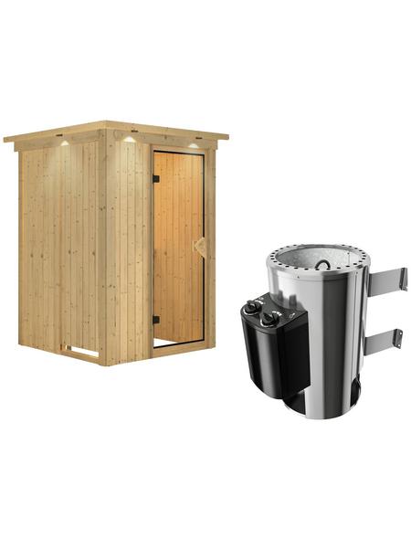 KARIBU Sauna »Rositten« mit Ofen, integrierte Steuerung