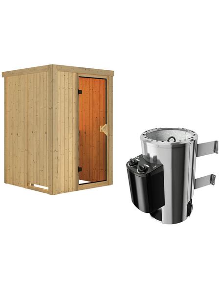 KARIBU Sauna »Rositten«, mit Ofen, integrierte Steuerung