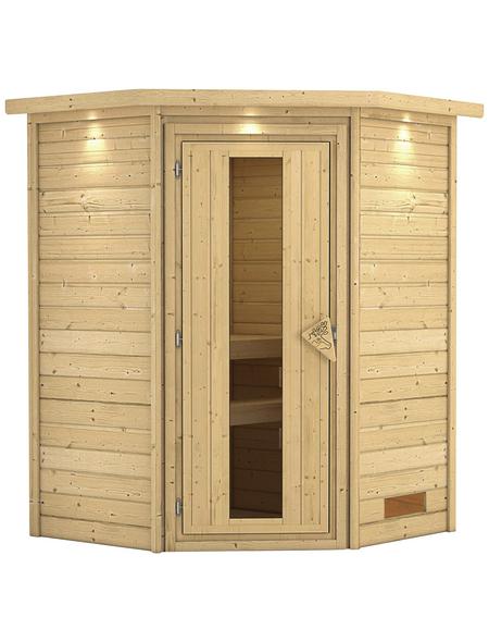 KARIBU Sauna »Rujen«, BxTxH: 174 x 160 x 202 cm, ohne Saunaofen