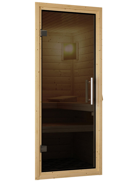 KARIBU Sauna »Rujen« mit Ofen, externe Steuerung