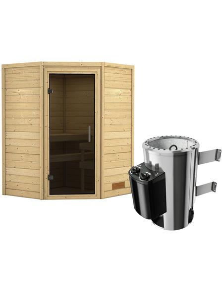 KARIBU Sauna »Rujen«, mit Ofen, integrierte Steuerung