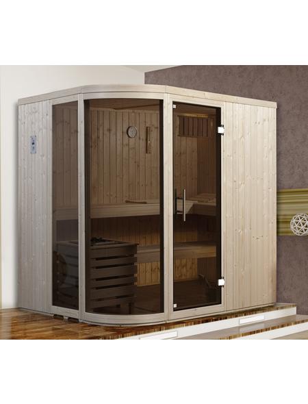 WEKA Sauna »Sara 1 «, inkl. 9 kW Bio-Kombi-Saunaofen mit externer Steuerung für 3 Personen
