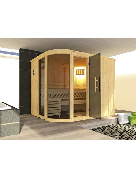 WEKA Sauna »Sara 2«, inkl. 9 kW Saunaofen mit externer Steuerung für 3 Personen
