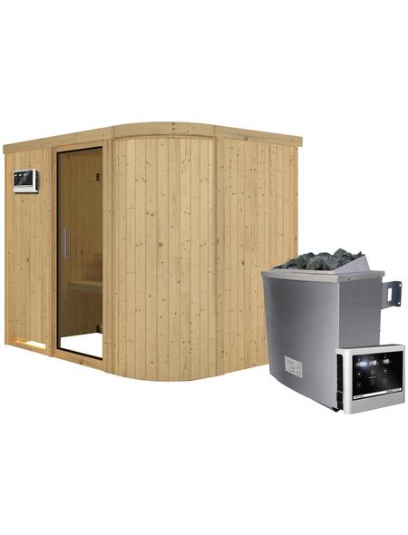 KARIBU Sauna »Saue 4« mit Ofen, externe Steuerung