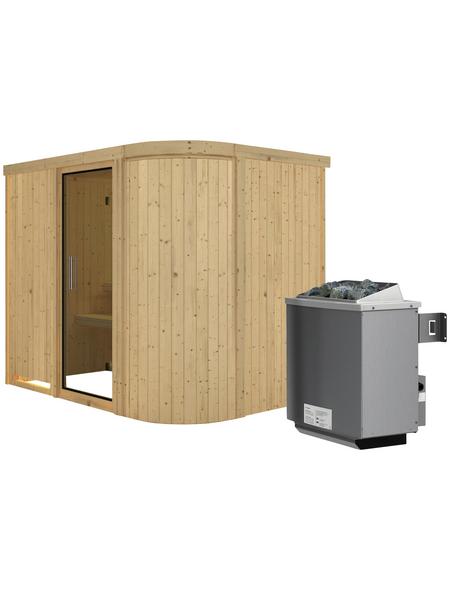KARIBU Sauna »Saue 4«, mit Ofen, integrierte Steuerung