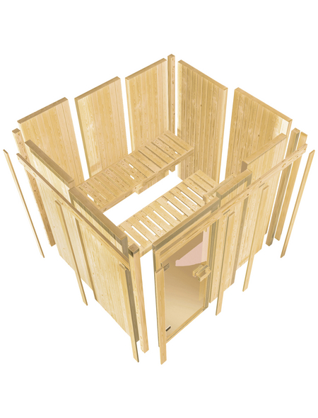 KARIBU Sauna »Saue 4« mit Ofen, integrierte Steuerung