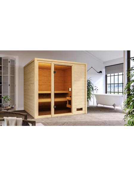 WOODFEELING Sauna »Senja«, für 4 Personen ohne Ofen