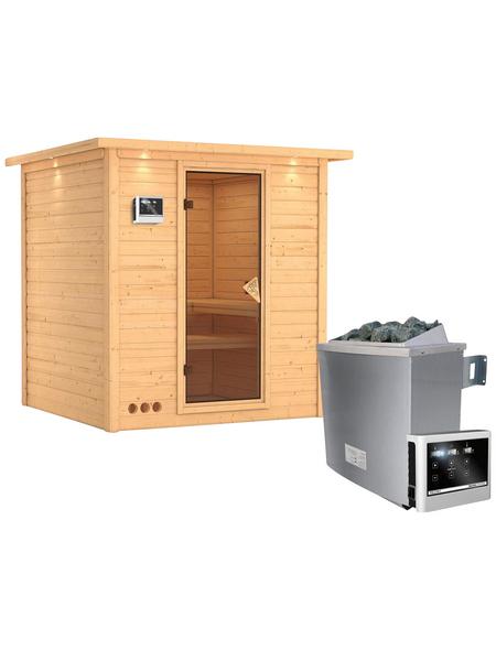 KARIBU Sauna »Sindi« inkl. 9 kW Saunaofen mit externer Steuerung für 4 Personen