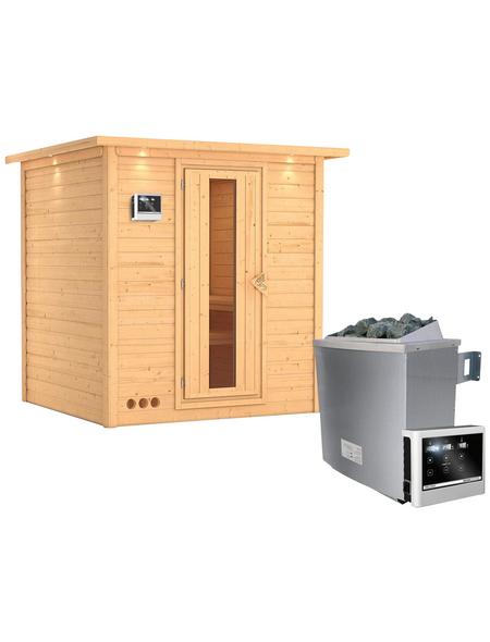 KARIBU Sauna »Sindi«, mit Ofen, externe Steuerung