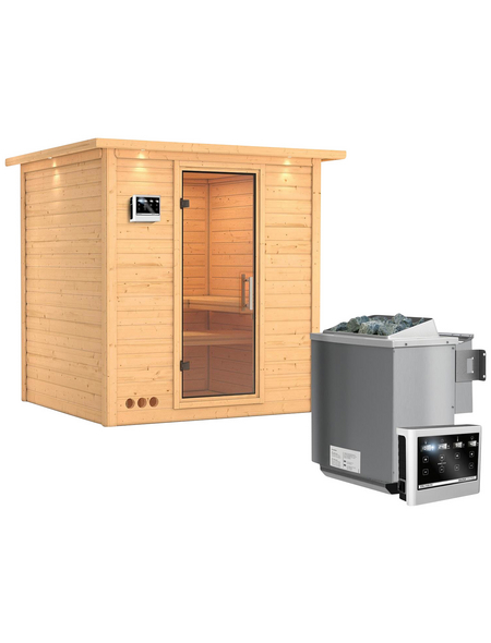 KARIBU Sauna »Sindi« mit Ofen, externe Steuerung