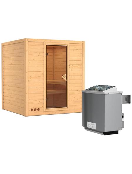KARIBU Sauna »Sindi« mit Ofen, integrierte Steuerung