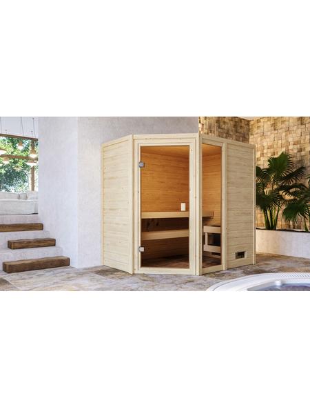WOODFEELING Sauna »Skadi«, für 4 Personen ohne Ofen