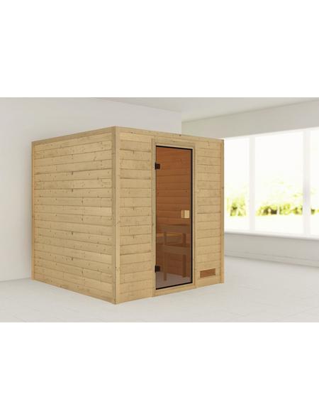 WOODFEELING Sauna »Skadia«, für 4 Personen ohne Ofen