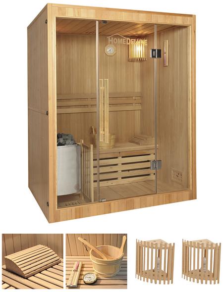 HOME DELUXE Sauna »Skyline L«, inkl. 4.5 kW Saunaofen mit integrierter Steuerung für 3 Personen