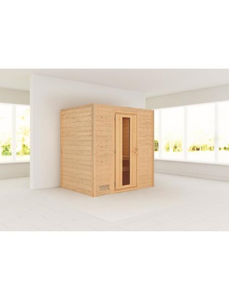 WOODFEELING Sauna »Sonja«, BxTxH: 196 x 146 x 198 cm, ohne Saunaofen