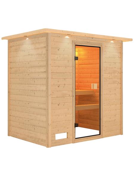 WOODFEELING Sauna »Sonja«, BxTxH: 224 x 160 x 202 cm, ohne Saunaofen