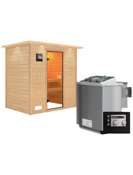 WOODFEELING Sauna »Sonja« mit Ofen, externe Steuerung