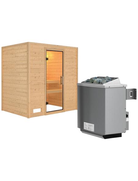 WOODFEELING Sauna »Sonja« mit Ofen, integrierte Steuerung