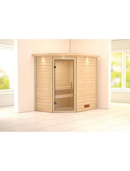 WOODFEELING Sauna »Svea«, BxTxH: 224 x 160 x 202 cm, ohne Saunaofen