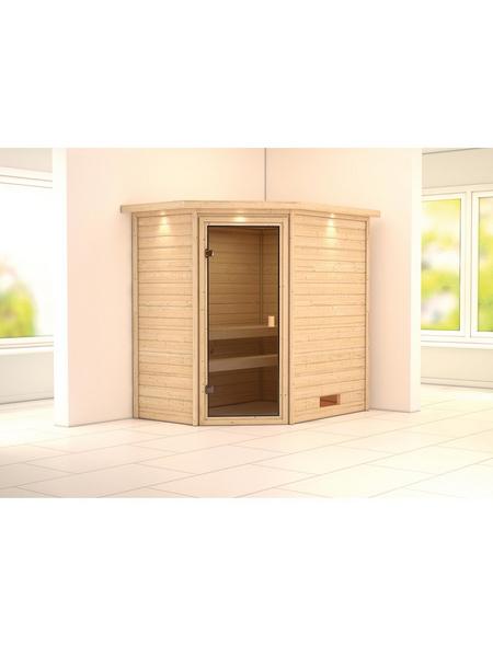 WOODFEELING Sauna »Svea«, für 3 Personen ohne Ofen