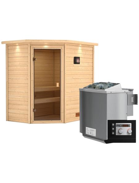 WOODFEELING Sauna »Svea« mit Ofen, externe Steuerung