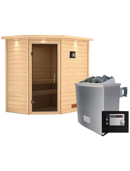 WOODFEELING Sauna »Svea«, mit Ofen, externe Steuerung