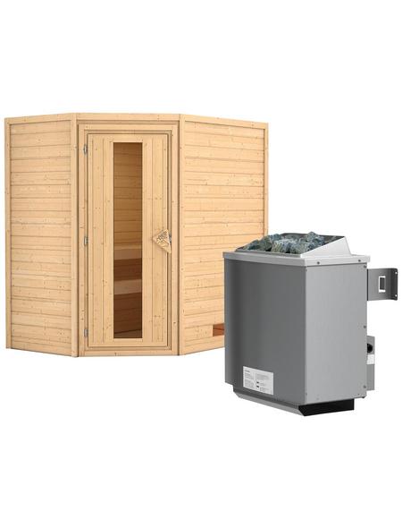 WOODFEELING Sauna »Svea«, mit Ofen, integrierte Steuerung