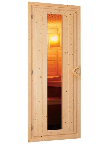WOODFEELING Sauna »Svea« mit Ofen, integrierte Steuerung