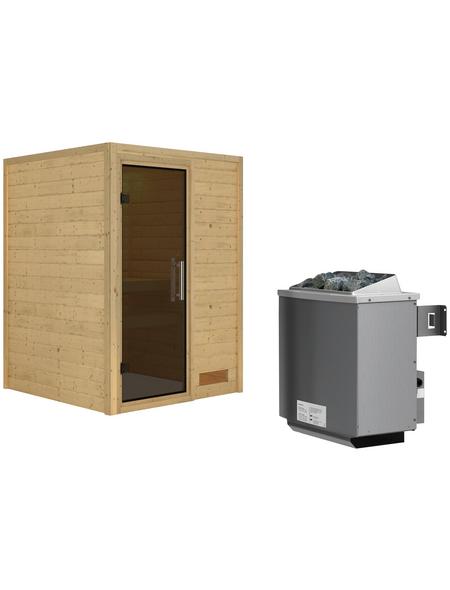 WOODFEELING Sauna »Svenja«, inkl. 9 kW Saunaofen mit integrierter Steuerung für 3 Personen