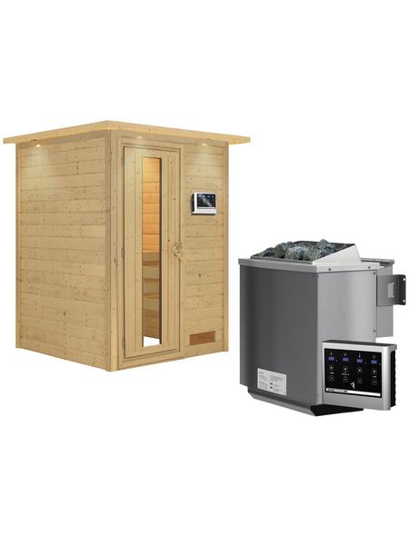 WOODFEELING Sauna »Svenja«, mit Ofen, externe Steuerung