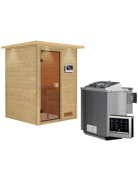 WOODFEELING Sauna »Svenja« mit Ofen, externe Steuerung