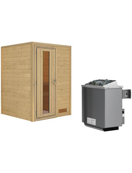 WOODFEELING Sauna »Svenja«, mit Ofen, integrierte Steuerung