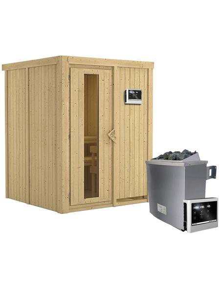 KARIBU Sauna »Tallinn« inkl. 9 kW Saunaofen mit externer Steuerung für 3 Personen