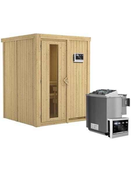KARIBU Sauna »Tallinn« mit Ofen, externe Steuerung
