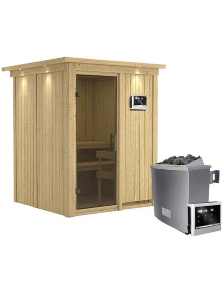 KARIBU Sauna »Tallinn«, mit Ofen, externe Steuerung