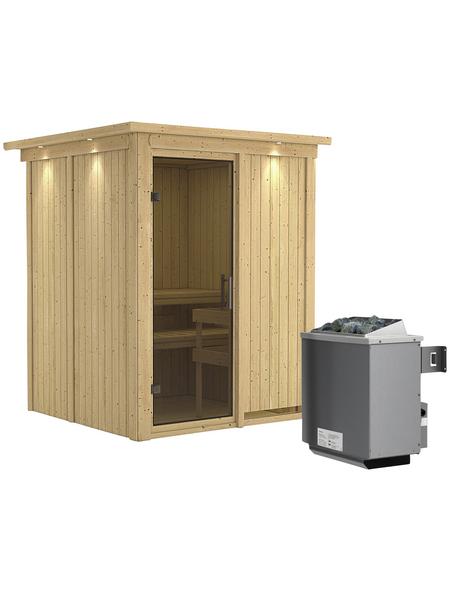 KARIBU Sauna »Tallinn« mit Ofen, integrierte Steuerung