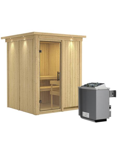 KARIBU Sauna »Tallinn«, mit Ofen, integrierte Steuerung