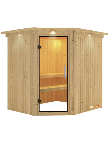 KARIBU Sauna »Talsen«, für 3 Personen ohne Ofen