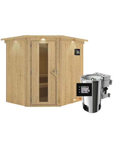 KARIBU Sauna »Talsen« mit Ofen, externe Steuerung