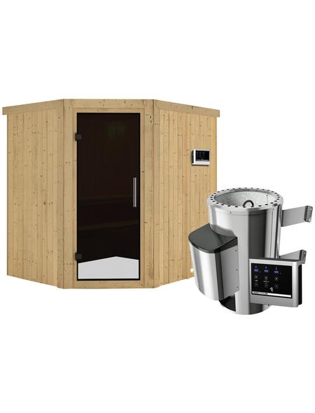 KARIBU Sauna »Talsen«, mit Ofen, externe Steuerung