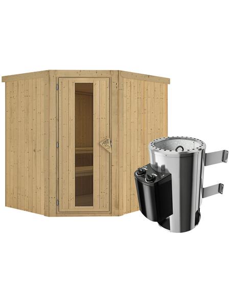 KARIBU Sauna »Talsen«, mit Ofen, integrierte Steuerung