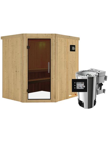 KARIBU Sauna »Talsen« mit Ofen, integrierte Steuerung