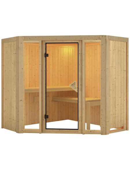KARIBU Sauna »Tapa 1«, für 3 Personen ohne Ofen