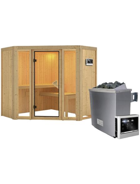 KARIBU Sauna »Tapa 1« mit Ofen, externe Steuerung