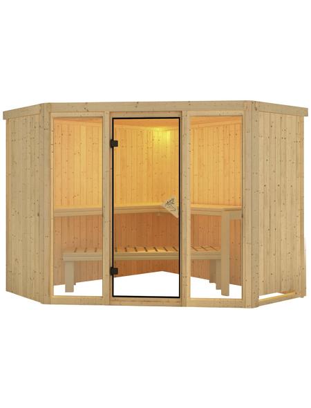 KARIBU Sauna »Tapa 2«, für 4 Personen ohne Ofen